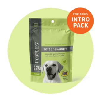 Image of the green Intro Pack size of Treatibles Soft Chewables for Dogs