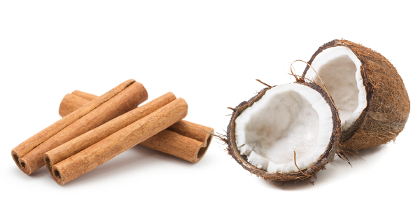 cinnamon and coconut ingredients