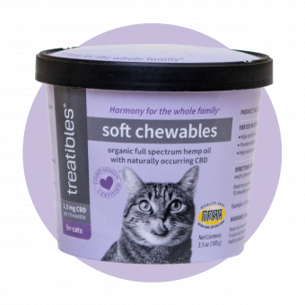 Soft Chewables (Anchovy Flavor) Includes Catnip - 1.5 mg CBD