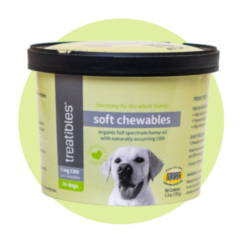 Image of the Treatibles Soft Chewables for Dogs full size container