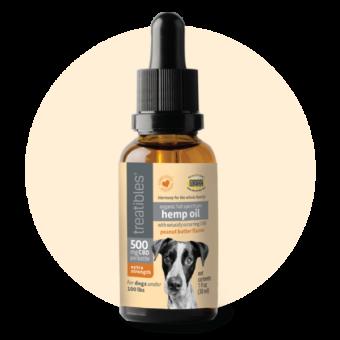 Organic Full Spectrum Hemp Oil (Peanut Butter Flavor) - 500 mg CBD for Dogs
