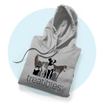 Treatibles Sweatshirt Hoodie Grey